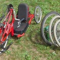 Quickie Handcycle with extra MTB wheelset