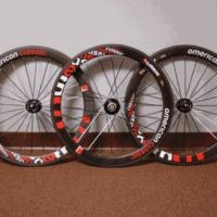 Trio of American Classic Carbon50 racing wheels and 2xCorima 650 rear carbon disc for sale